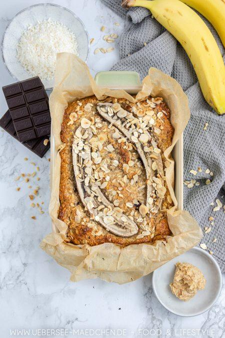 Bananenbrot mit Erdnussbutter Kokos Rezept von ÜberSee-Mädchen der Foodblog vom Bodensee Konstanz