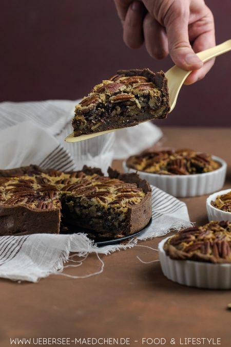 Pekannuss-Tarte mit Schoko Rezept von ÜberSee-Mädchen Foodblog vom Bodensee