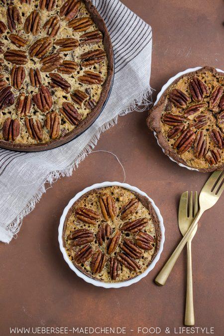 Sieht nicht nur hübsch aus, sondern schmeckt: Tarte mit Pekannüssen und Schoko