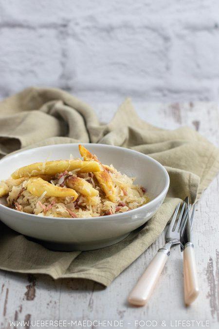 Schupfnudeln mit Sauerkraut und Speck schwäbisches Rezept von ÜberSee-Mädchen Foodblog vom Bodensee
