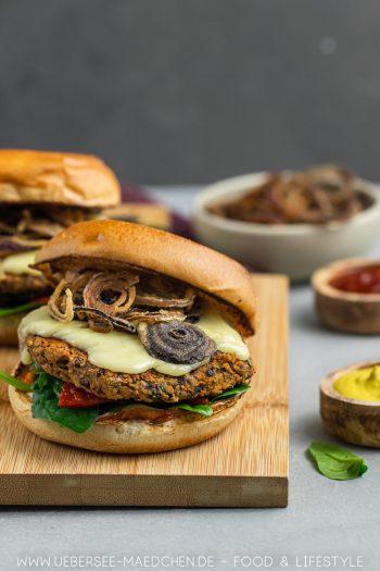 Vegetarischer Burger BBQ mit Kidneybohnen-Pattie Rezept von ÜberSee-Mädchen Foodblog vom Bodensee