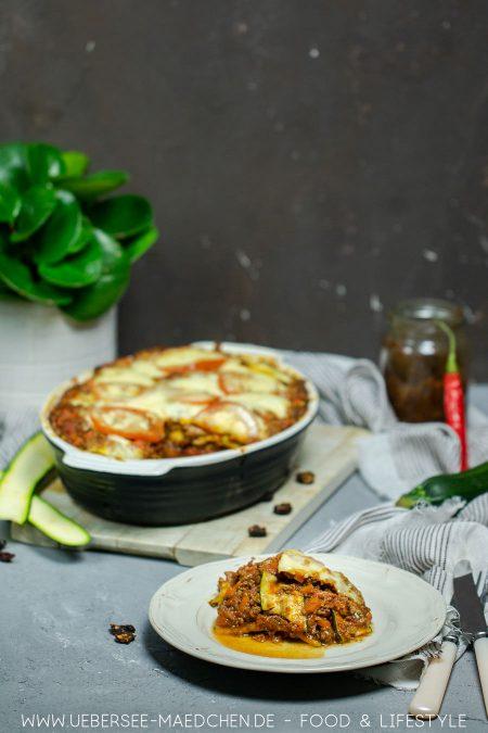 Zucchini-Lasagne low carb Rezept von ÜberSee-Mädchen Foodblog vom Bodensee