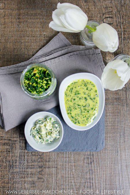 Bärlauch dreimal anders als Bärlauchpesto Bärlauchmayo Bärlauchbutter Rezept von ÜberSee-Mädchen Foodblog vom Bodensee