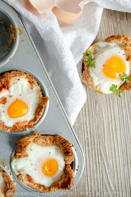 Frühstücksmuffins mit Ei aus der Muffinform Rezept