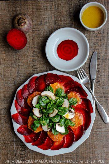 Rote-Bete-Carpaccio als Vorspeise Rezept von ÜberSee-Mädchen Foodblog vom Bodensee
