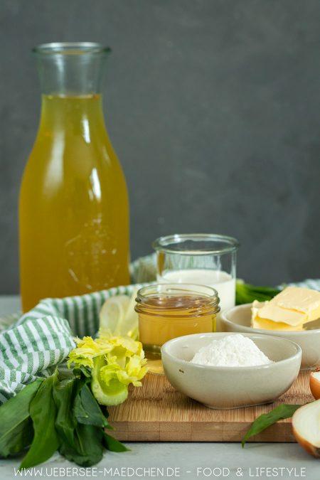 Zutaten für Bärlauchsuppe wenige Zutaten für viel Suppe