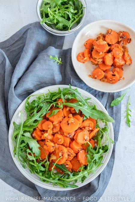 Karottensalat orientalisch mit Harissa und Rucola nach Yotam Ottolenghi Jerusalem Rezept