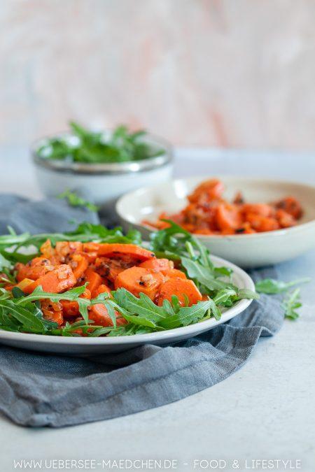 Salat mit gekochten Karotten ist schnell und einfach gemacht