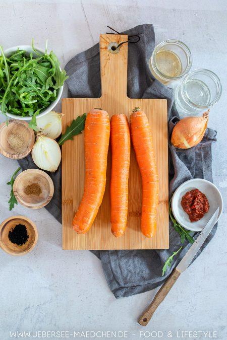 Alle Zutaten für orientalischen Karottensalat