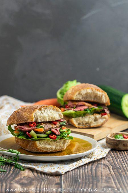 Perfekt zum Feierabend: Asia-Sandwich mit Roastbeef