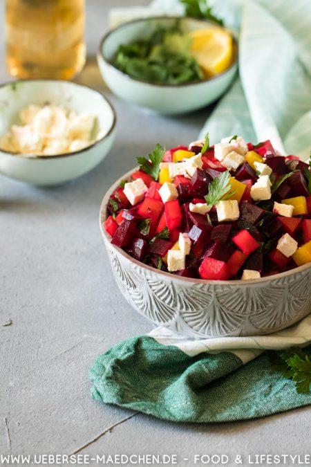Salat mit roter Bete und Feta Petersilie einfaches Rezept von ÜberSee-Mädchen Foodblog vom Bodensee