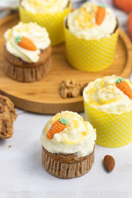 Karotten-Muffins mit Frischkäse-Frosting sind ideal zu Ostern Rezept von ÜberSee-Mädchen Foodblog vom Bodensee