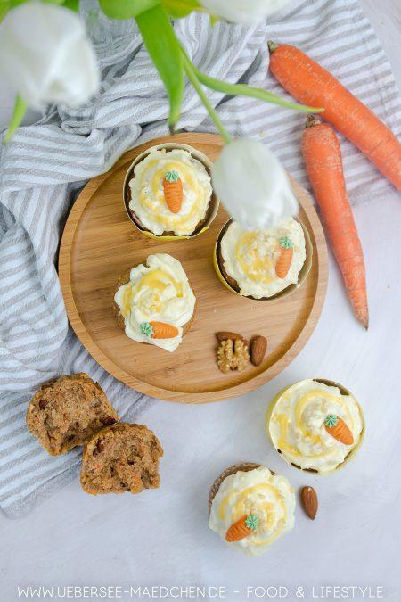 Karotten-Muffins mit Frischkäse-Frosting sind ideal zu Ostern Rezept