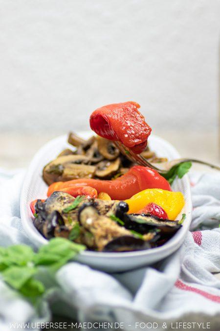 Gegrillte Paprika sind einfach selbstgemacht Rezept