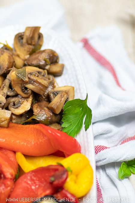 Leckere mediterrane Vorspeise Balsamico-Pilze Rezept