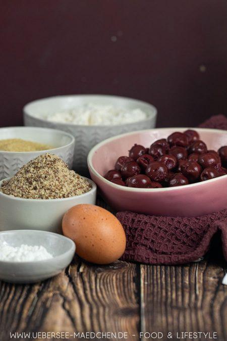 Zutaten für richtig guten Kirschkuchen mit Streuseln