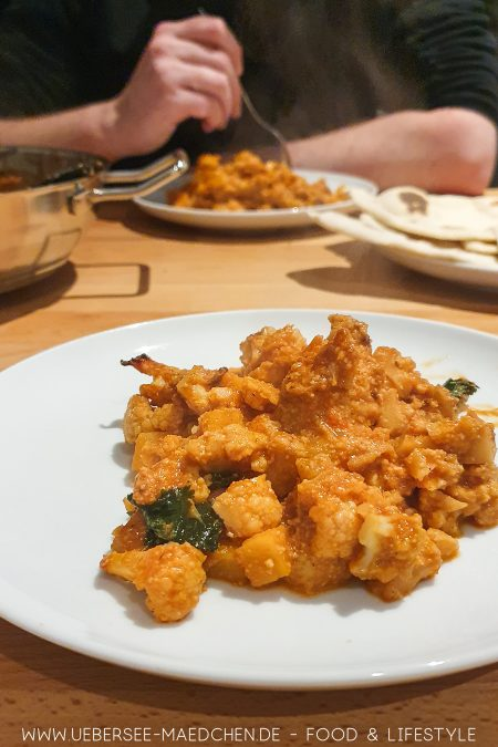 Blumenkohl-Curry nach Jamie Oliver Veggies Kochbuch