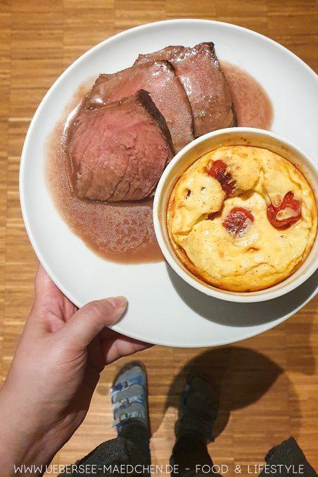 Roastbeef mit Clafoutis aus Kochbuch Kochen für zwei