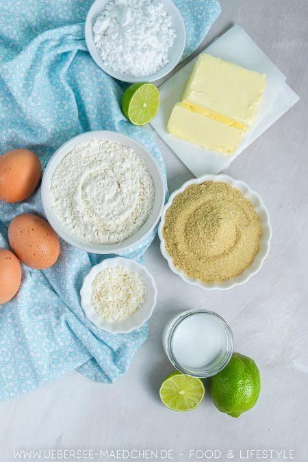 Alle Zutaten für Tartelettes mit Limettencreme Rezept