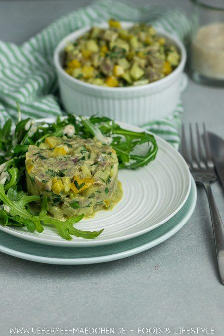 Thunfisch-Tatar mit Birne und Paprika Rezept für feine Vorspeise von ÜberSee-Mädchen Foodblog vom Bodensee