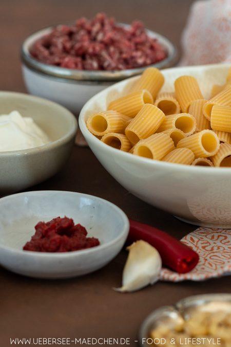Zutaten für türkische Pasta wie Manti aber einfach Rezept