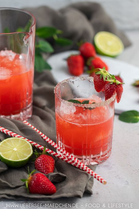 Erdbeer-Daiquiri fruchtiger Sommer-Cocktail Rezept