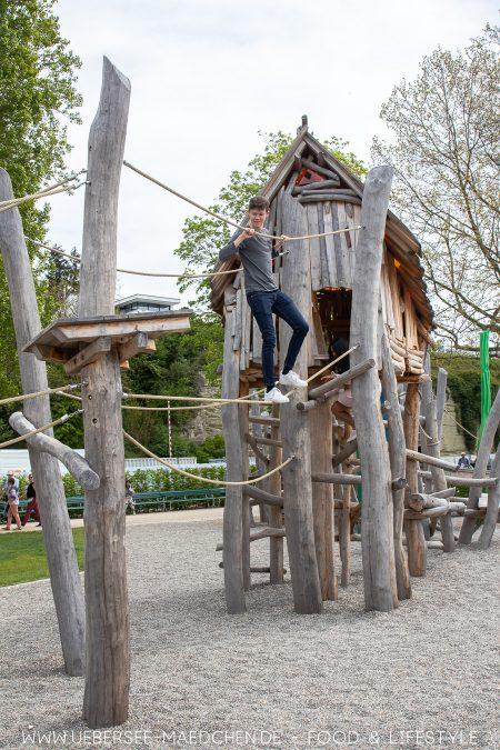 Den Spielplatz können nicht nur Kinder nutzen