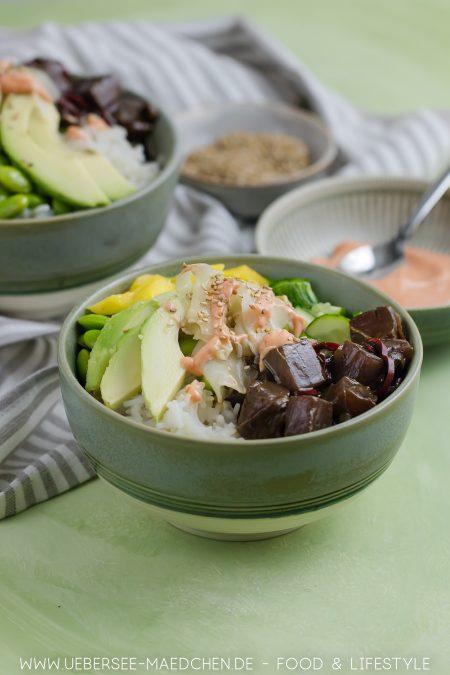 Poke-Bowl mit Thunfisch Sriracha-Mayo Rezept von ÜberSee-Mädchen Foodblog vom Bodensee
