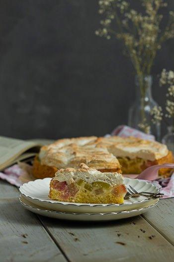 Rhabarberkuchen mit Baiser wie bei Oma Rezept von ÜberSee-Mädchen Foodblog vom Bodensee