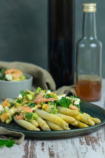 Spargel mit Vinaigrette Ei Garnelen Rezept von ÜberSee-Mädchen Foodblog vom Bodensee