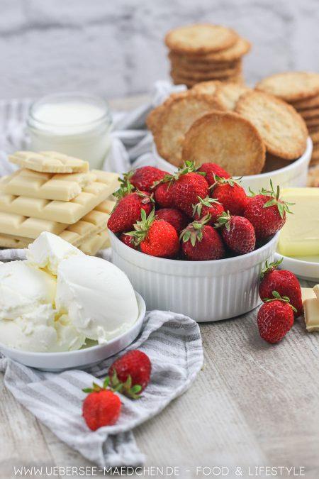 Zutaten für Erdbeer-Tarte ohne Backen Rezept