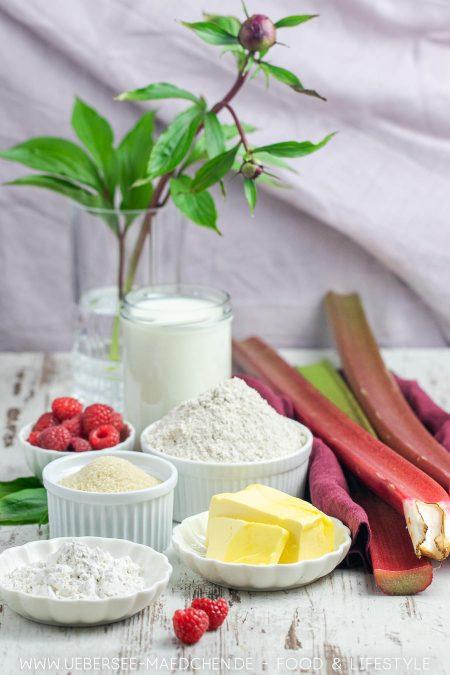 Alle Zutaten für Rhabarbertarte mit Vanillecreme