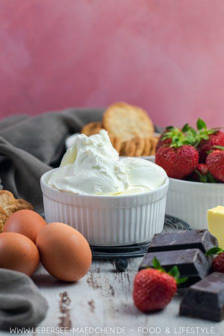 Zutaten für Schoko-Cheesecake Rezept