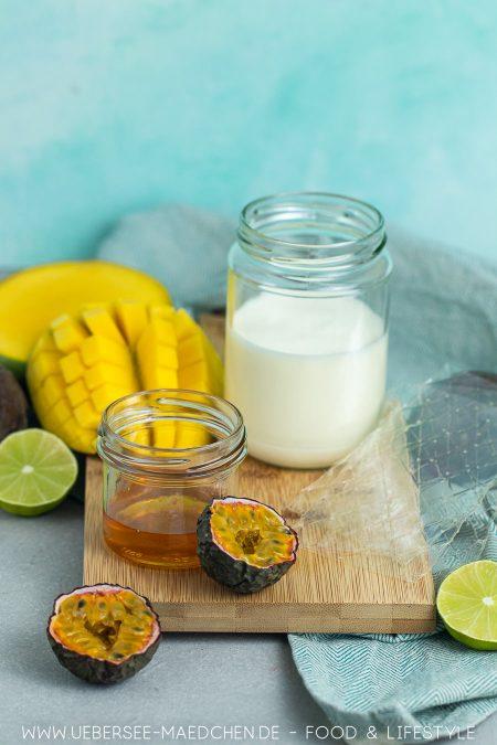 Zutaten für tropische Mangocreme