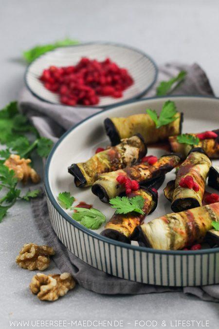 Auberginen-Röllchen für Vorspeise Meze Mezze Rezept