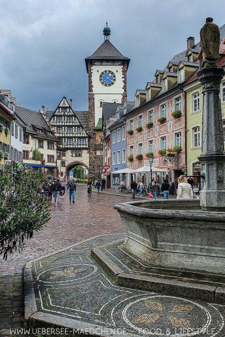 Blick aufs Schwabentor in Freiburg