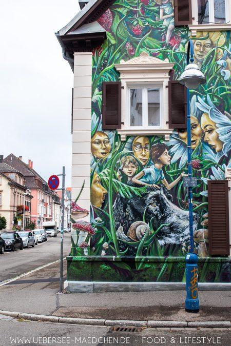 Graffitihaus in der Kirchstraße Freiburg