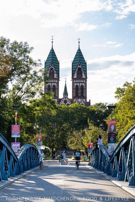 Die Fahrradstraße Wiwilibrücke Freiburg